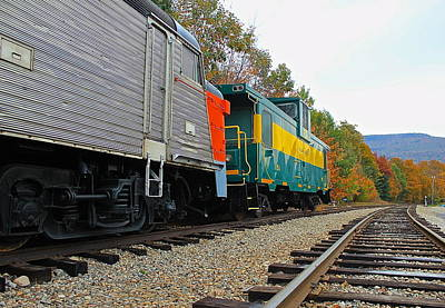 Poster featuring the photograph Train In New Hampshire by Amazing Jules
