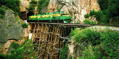 Train On A Bridge, White Pass And Yukon Poster by Panoramic Images