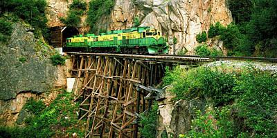 Train On A Bridge, White Pass And Yukon Poster
