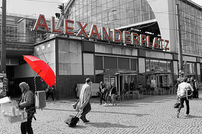 Train Station Alexanderplatz Poster by Steve K