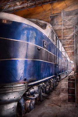 Train - The Maintenance Facility  Poster by Mike Savad