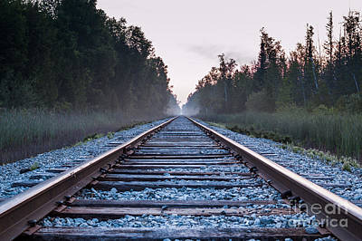 Poster featuring the photograph Train Tracks To Nowhere by Patrick Shupert