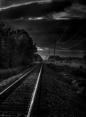 Train Tracks To Town Poster by Thomas Young
