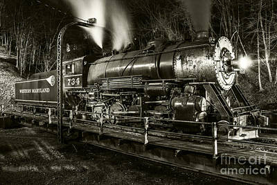Train Turntable In Frostburg Maryland Poster