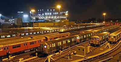Trains Nyc Poster by Jeffrey Friedkin