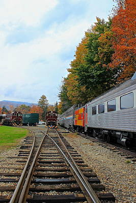 Poster featuring the photograph Trains Of Nh by Amazing Jules