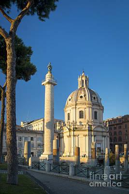 Trajans Column - Rome Poster by Brian Jannsen
