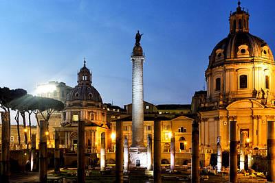 Trajan's Column Poster by Fabrizio Troiani