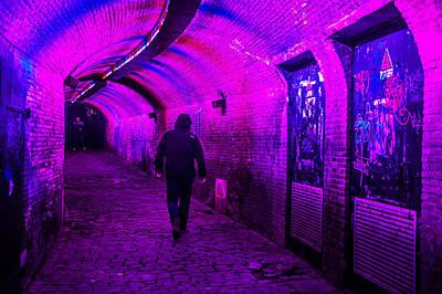 Trajectum Lumen Project. Ganzenmarkt Tunnel 6. Netherlands Poster by Jenny Rainbow
