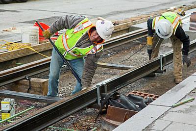 Tram Line Construction Poster