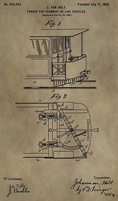 Tramway Fender Patent Poster