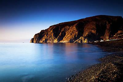 Tranquil Coastline Poster by Wladimir Bulgar