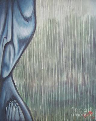 Poster featuring the painting Tranquil Rain by Michael  TMAD Finney
