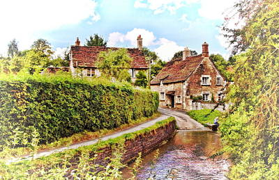 Tranquil Stream Lacock Poster by Paul Gulliver
