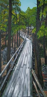 Poster featuring the painting Tranquility Trail by Sharon Duguay