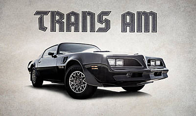 Poster featuring the digital art Trans Am by Douglas Pittman