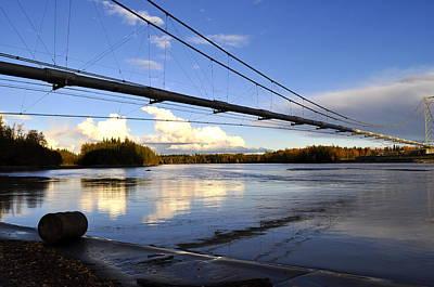 Poster featuring the photograph Transalaska Pipeline Bridge by Cathy Mahnke