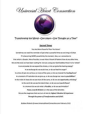 Transformation Poster by Bobbee Rickard