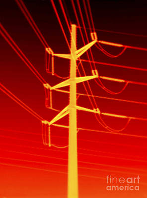 Transmission Tower Thermogram Poster