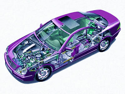 Transparent Car Concept Made In 3d Graphics 8 Poster