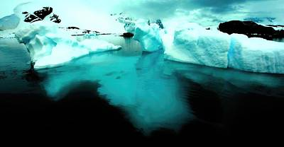 Poster featuring the photograph Transparent Iceberg by Amanda Stadther