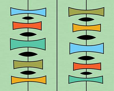 Trapezoids 3 Poster by Donna Mibus