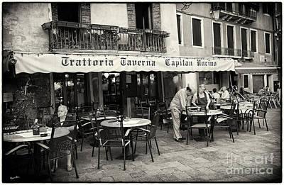Trattoria In Venice  Poster