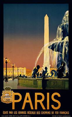 Travel Paris Poster