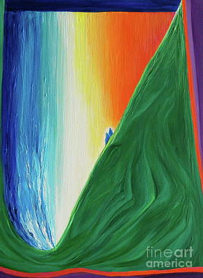 Poster featuring the painting Travelers Rainbow Waterfall By Jrr by First Star Art