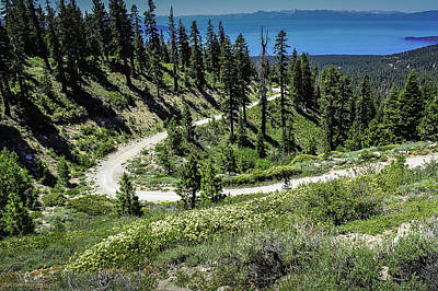 Traveling The Mt. Rose Highway Scenic Overlook Hiking Trail Poster by LeeAnn McLaneGoetz McLaneGoetzStudioLLCcom