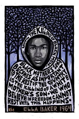 Trayvon Martin Poster by Ricardo Levins Morales