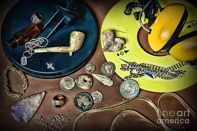Treasure Hunter - Metal Detecting Poster by Paul Ward