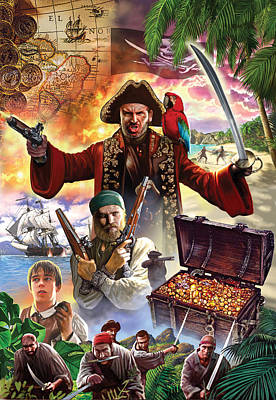 Treasure Island Poster by Steve Crisp