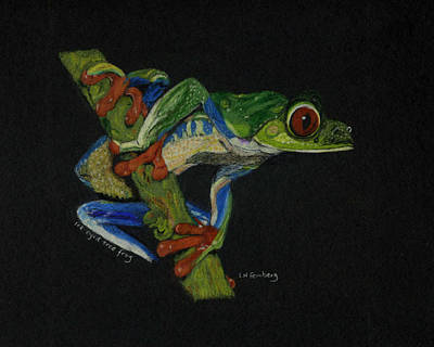 Poster featuring the painting Tree Frog by Linda Feinberg