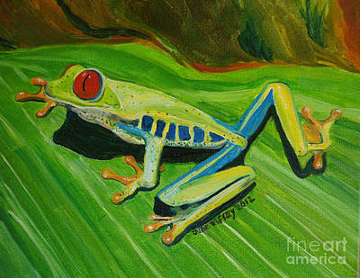 Tree Frog Traction Poster by Julie Brugh Riffey