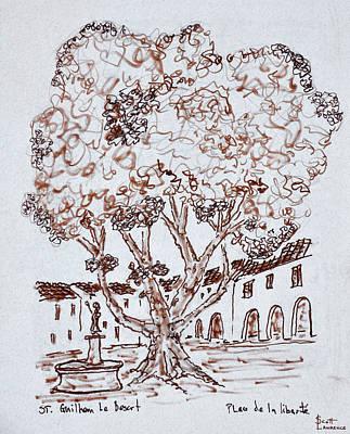 Tree Growing In Place De La Liberte Poster