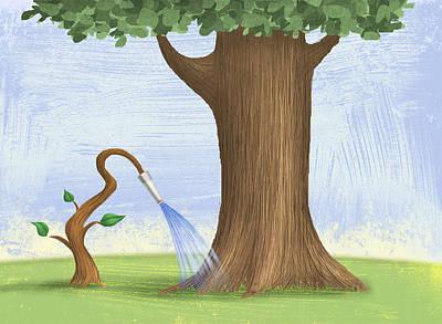 Tree Hose Poster by Steve Dininno