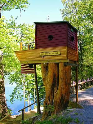 Tree House Boat Poster by Sherman Perry