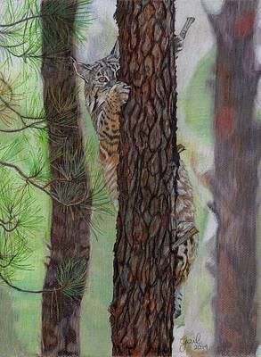 Tree Hugger Poster by Gail Seufferlein