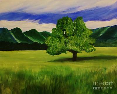 Tree In A Field Poster by Christy Saunders Church