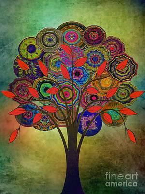 Tree Of Life 2. Version Poster by Klara Acel