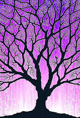 Poster featuring the digital art Tree Of Light 2 by Cristophers Dream Artistry
