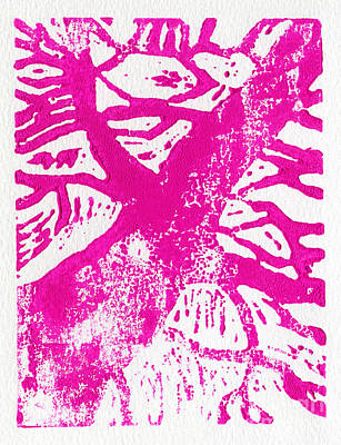 Tree Print Pink Poster by Christina Rahm