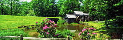 Trees Around A Watermill, Mabry Mill Poster