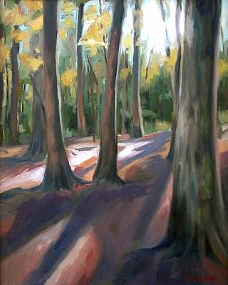 Trees At Glenrock Branch Poster by Erin Rickelton