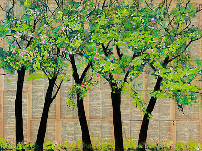 Trees In A Row Poster