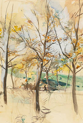 Trees In The Bois De Boulogne Poster by Giovanni Boldini