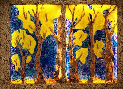 Trees Inside A Window Poster