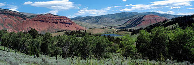 Trees On Red Hills, Gros Ventre Poster by Panoramic Images