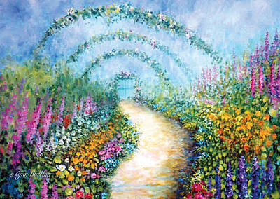 Poster featuring the painting Trellis II by Lynn Buettner